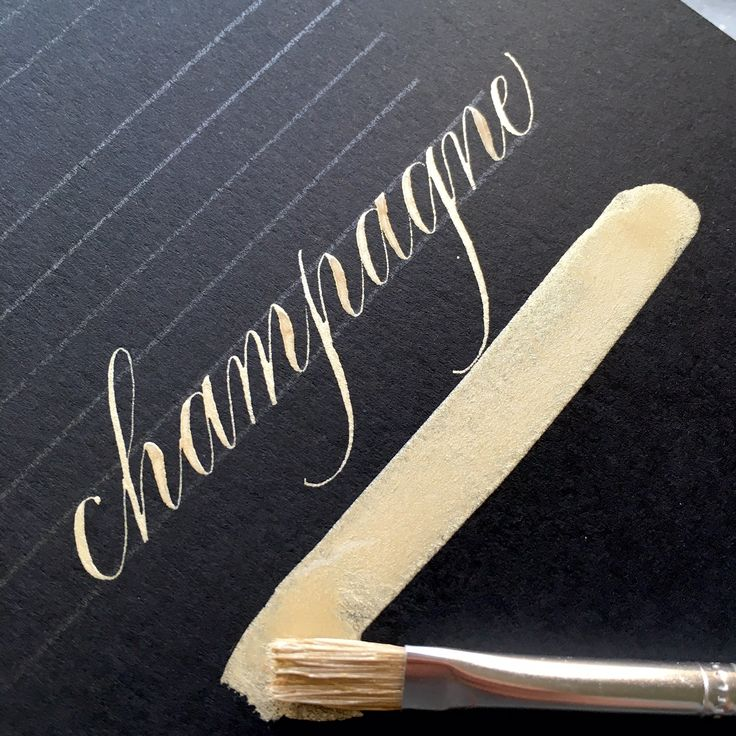 Champagne Gold Ink Bien Fait Calligraphy Calligraphy