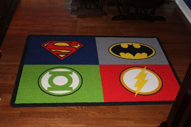 Justice League Area Rug  Baby Dannys Room Justice League