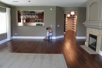 Love this wall color with the dark wood floors | For the ...