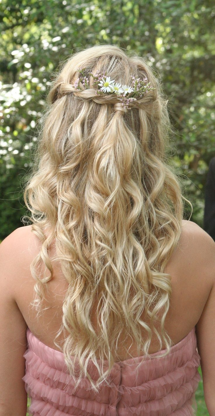 Bohemian Princess Hair Braided Crown Gathered In The