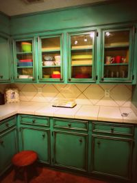 17 Best ideas about Turquoise Kitchen Cabinets on ...