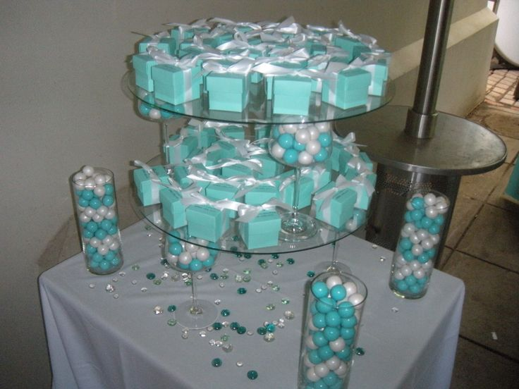 Favor at Tiffany themed bridal shower  Wedding Ideas