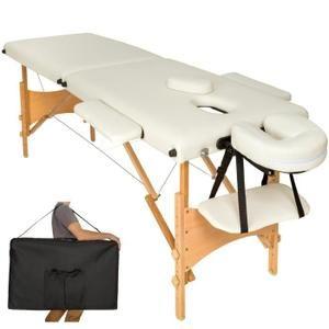 table de massage pliante zones bois cosmetique lit de massage portable beige tectake housse sac de transport