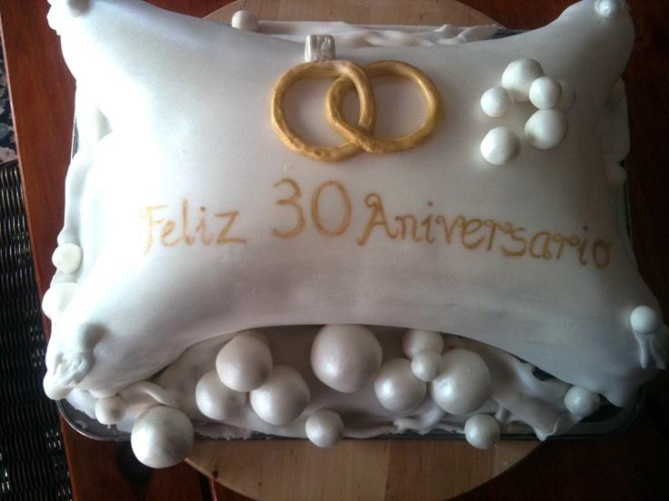 Feliz 30 Aniversario Christening Amp Anniversary Cakes Pinterest