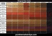 popular avigal henna color chart