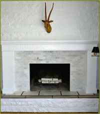 Tumbled Travertine Tile Fireplace - Best Home Design Ideas ...