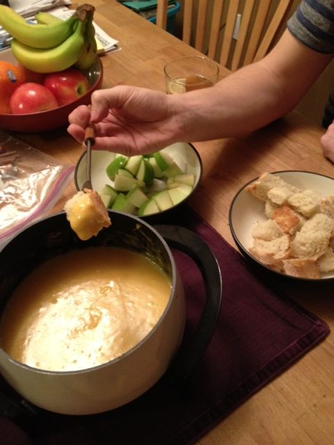 Easy Cheddar Cheese Fondue! Adapted from the Melting Pot…and you probably have