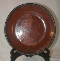 Antique Lead Glazed Redware Pie Plate Southeastern ...
