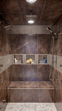 Double Headed Shower. | Dream home | Pinterest | Tile ...