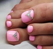 ideas pink toe nails