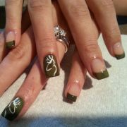 camouflage french manicure