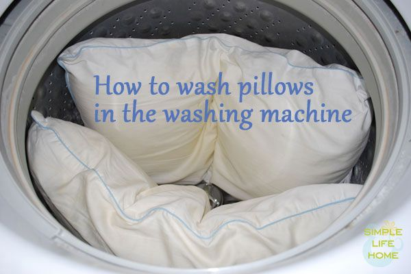 Knowing how to wash pillows in the washing machine can