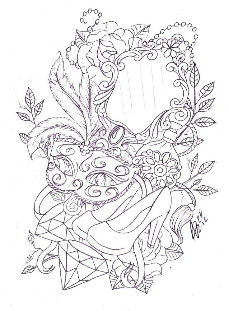 Best 25 Victorian Frame Tattoos Ideas