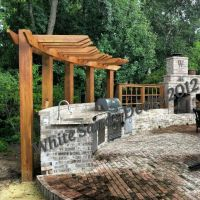 Curved pergola | For the Home | Pinterest | Fireplaces ...