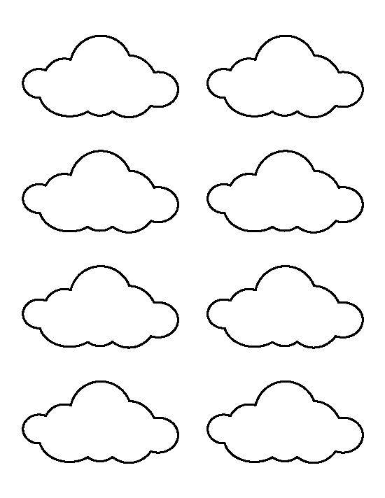Small cloud pattern. Use the printable outline for crafts