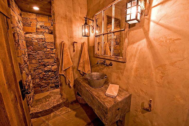 Small But Creative Rustic Bathroom
