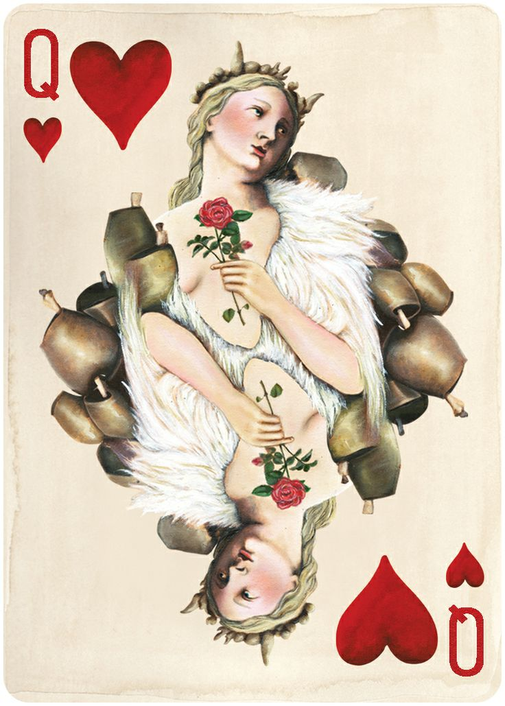 Pagan playing cards queen of hearts available in march