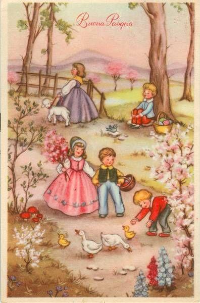 Buona Pasqua 1959 CARTOLINE DALTRI TEMPI Pinterest