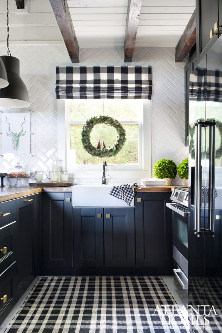 farmhouse kitchen cabinets for sale lowes sink base cabinet best 20+ buffalo check ideas on pinterest