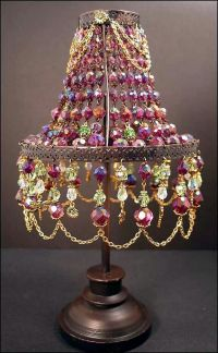 110 best images about Beaded Lamp Shade on Pinterest