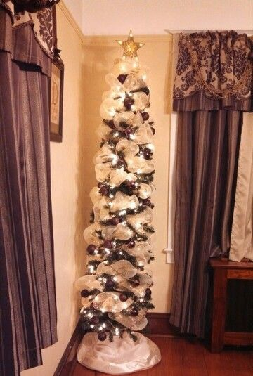 Pencil christmas tree Michaels craft and Deco mesh on