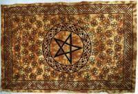 Pentagram Tapestry Pentacle Tapestry Bed Spread Altar ...