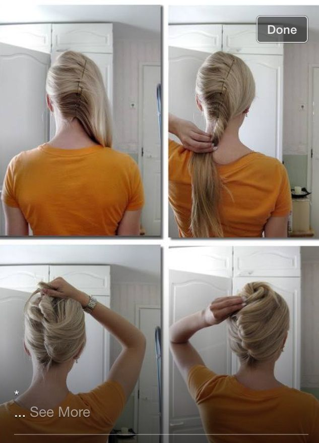 French roll  Hair  Pinterest  Prom and French