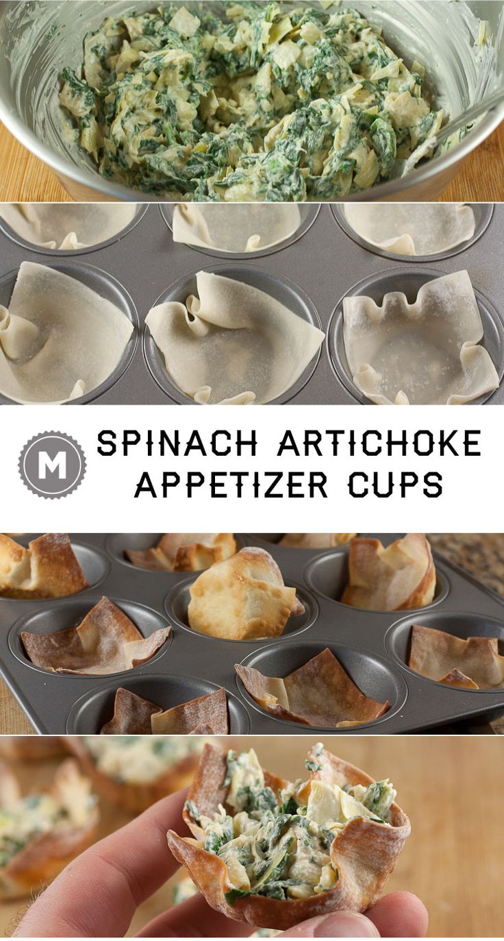 These simple little appetizer cups are perfect for any occasion. Who doesnt want spinach artichoke dip on the go?