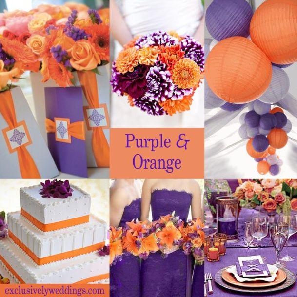 Purple and Orange Wedding Colors