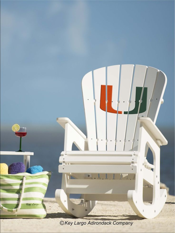 engraved rocking chair wedding cover hire maidstone university of miami hurricanes | miami, chairs and