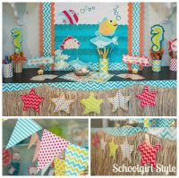 Ocean Starfish Beach Chevron Classroom Decorations by ...