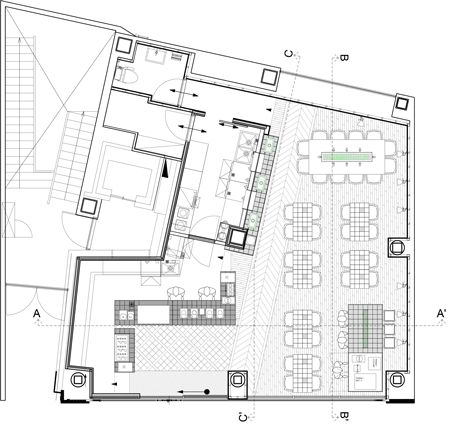 Floor plan of Coutume-cafe-Aoyama-in-Tokyo-Japan-by-CUT