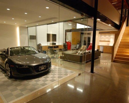 Amazing Car Showroom Design With Living Room Luxury