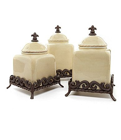 tuscan kitchen canisters storage carts artimino countryside cream dinnerware #dillards ...