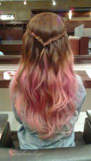 ideas pink dip dye