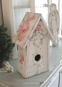 Best 25+ Shabby Chic Birdhouse ideas on Pinterest