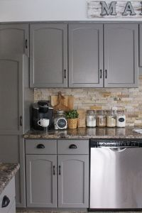 How to Paint Kitchen Cabinets | Grey kitchen cabinets ...