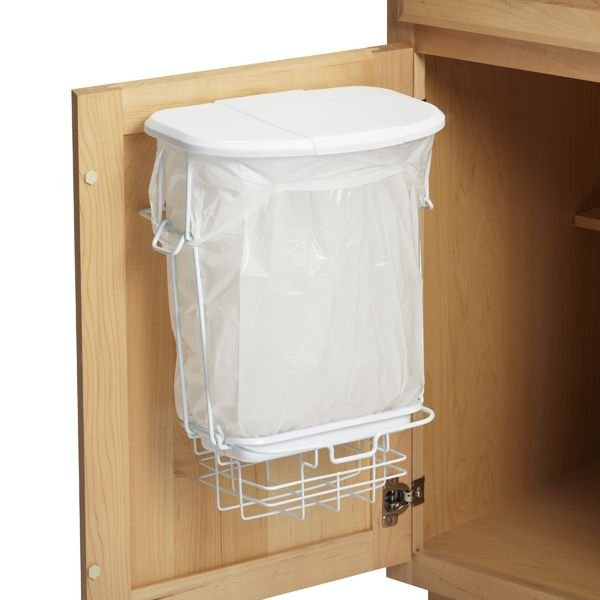 door mounted kitchen garbage can with lid island light 3 gal trashrac trash basket | recycling, shops ...