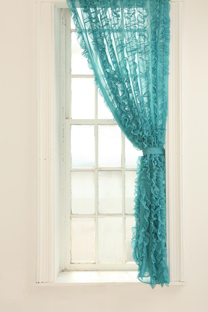 Lovely Turquoise Curtain Panel Home Decor Pinterest Turquoise Mom And Ruffles