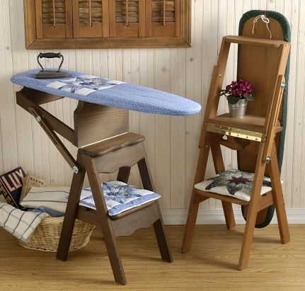handmade wooden furniture  ironing board stepstool ladder