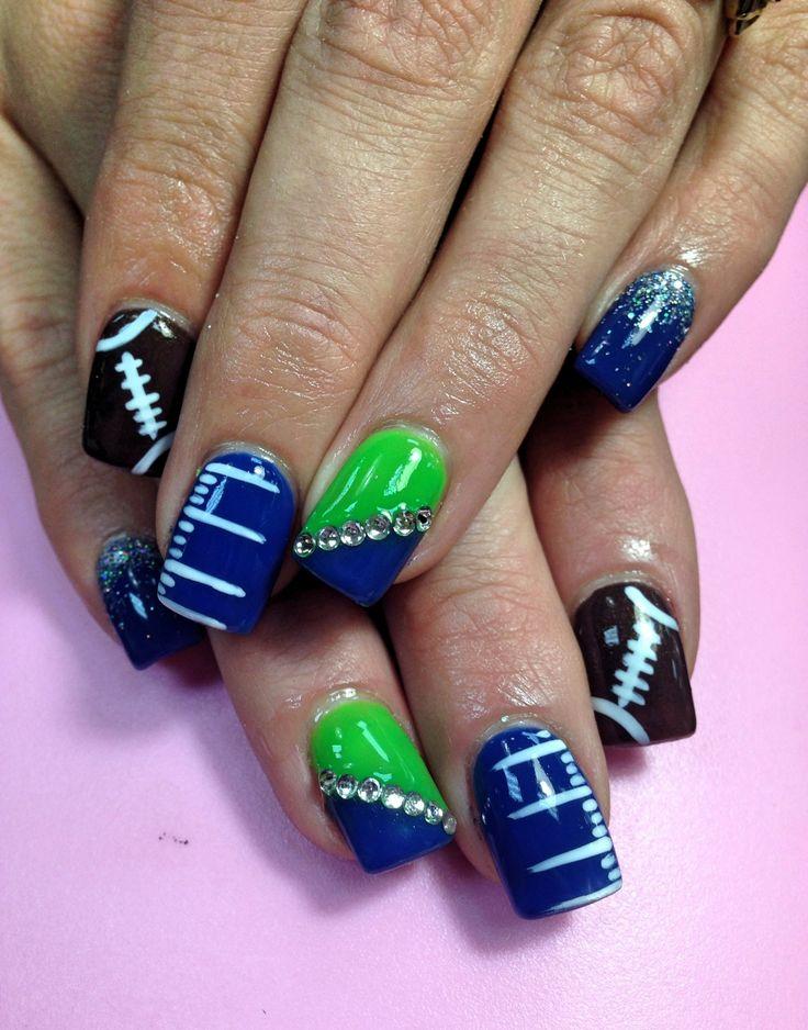 17 Best ideas about Football Nails on Pinterest