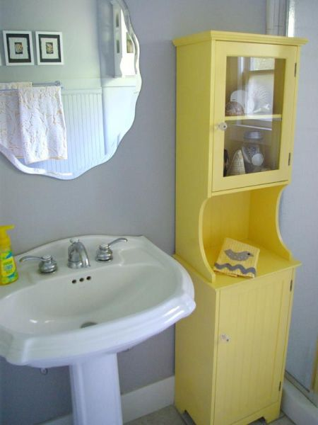 yellow and grey bathroom mirror Top 25 ideas about Yellow Bathrooms on Pinterest | Yellow walls bedroom, Yellow paint colors and
