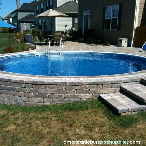 Build A Paver Wall Around The Above Ground Pool Pools