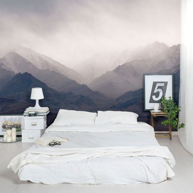 Misty Mountains Wall Mural Love The Idea Of A Full Size Painting