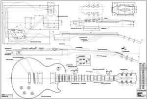 Taylor Guitar Wiring Diagram Full Scale Lp Custom Plan Guitar Bodies And Kits From