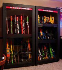 Nerf gun cabinet | Tree houses | Pinterest | Nerf Gun ...