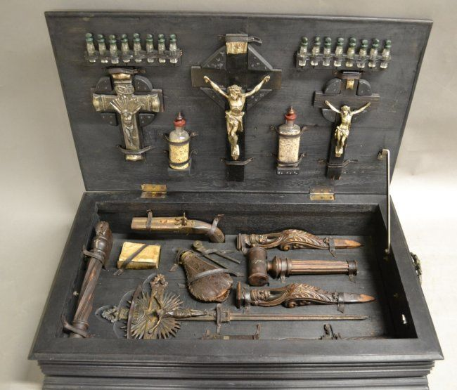 19th Century European Vampire Hunting Kit In Hand