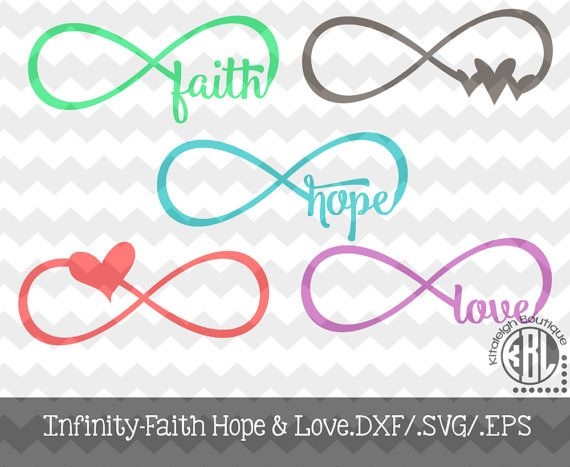Download Infinity Faith, Hope, and Love.DXF/.SVG/.EPS File for use ...