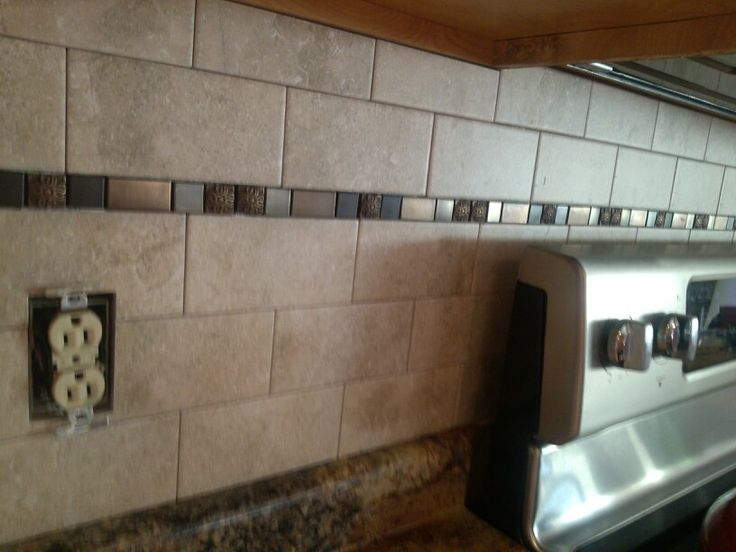 Kitchen Backsplash...just A Little Wider Space With The
