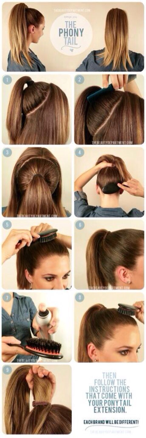 25 best ideas about Fuller ponytail  on Pinterest Double